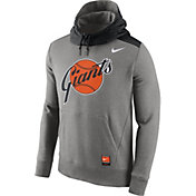 Nike Men's San Francisco Giants Cooperstown Grey Hybrid Pullover Hoodie