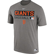 Nike Men's San Francisco Giants Dri-FIT Authentic Collection Grey Legend T-Shirt