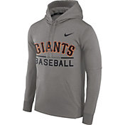 Nike Men's San Francisco Giants Dri-FIT Grey Therma Pullover Hoodie