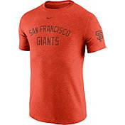 Nike Men's San Francisco Giants DNA Tri-Blend Heathered Orange T-Shirt