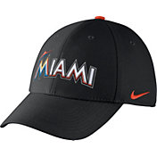 Nike Men's Miami Marlins Dri-FIT Black Legacy 91 Swoosh Flex Hat