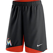Nike Men's Miami Marlins Dri-FIT Authentic Collection Black Performance Shorts