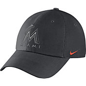 Nike Men's Miami Marlins Dri-FIT Grey Heritage 86 Adjustable Hat