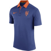 Nike Men's New York Mets Dri-FIT Authentic Collection Royal Elite Polo