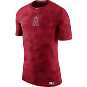 Nike Men's Los Angeles Angels Hypercool Authentic Collection Red Performance T-Shir