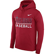 Nike Men's Los Angeles Angels Dri-FIT Red Therma Pullover Hoodie