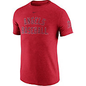 Nike Men's Los Angeles Angels DNA Tri-Blend Heathered Red T-Shirt