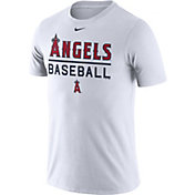 Nike Men's Los Angeles Angels Practice White T-Shirt