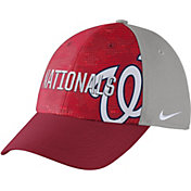 Nike Men's Washington Nationals Dri-FIT Red/Grey Swoosh Flex Fitted Hat