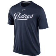 Nike Men's San Diego Padres Dri-FIT Legend Wordmark Navy T-Shirt