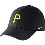 Nike Men's Pittsburgh Pirates Dri-FIT Black Heritage 86 Stadium Adjustable Hat