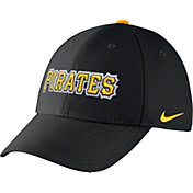 Nike Men's Pittsburgh Pirates Dri-FIT Black Legacy 91 Swoosh Flex Hat