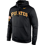 Nike Men's Pittsburgh Pirates Therma-FIT KO Military Camo Black Performance Hoodie
