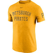 Nike Men's Pittsburgh Pirates DNA Tri-Blend Heathered Gold T-Shirt