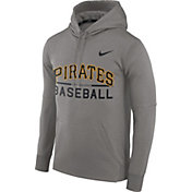 Nike Men's Pittsburgh Pirates Dri-FIT Grey Therma Pullover Hoodie