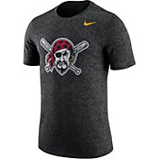 Nike Men's Pittsburgh Pirates Marled Black T-Shirt