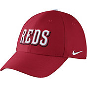 Nike Men's Cincinnati Reds Dri-FIT Red Legacy 91 Swoosh Flex Hat