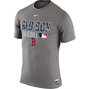 Nike Men's Boston Red Sox Dri-FIT Authentic Collection Grey Legend T-Shirt