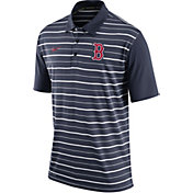 Nike Men's Boston Red Sox Dri-FIT Navy Striped Polo