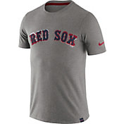 Nike Men's Boston Red Sox Marled Grey T-Shirt