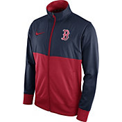 Nike Men's Boston Red Sox Navy/Red Full-Zip Track Jacket