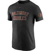 Nike Men's Baltimore Orioles DNA Tri-Blend Heathered Black T-Shirt
