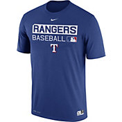 Nike Men's Texas Rangers Dri-FIT Authentic Collection Royal Legend T-Shirt