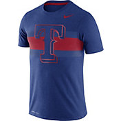 Nike Men's Texas Rangers Dri-Blend Royal Local Stripes T-Shirt