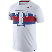 Nike Men's Texas Rangers Dri-Blend White Local Stripes T-Shirt
