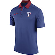 Nike Men's Texas Rangers Dri-FIT Authentic Collection Royal Elite Polo