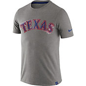 Nike Men's Texas Rangers Marled Grey T-Shirt