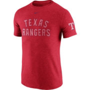 Nike Men's Texas Rangers DNA Tri-Blend Heathered Red T-Shirt
