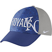 Nike Men's Kansas City Royals Dri-FIT Royal/Grey Swoosh Flex Fitted Hat