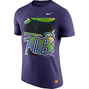 Nike Men's Tampa Bay Rays Cooperstown Purple Tri-Blend T-Shirt