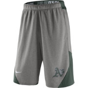 Nike Men's Oakland Athletics Dri-FIT Authentic Collection Grey Performance Knit Shorts