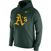 Nike Men's Oakland Athletics Club Green Pullover Hoodie