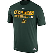 Nike Men's Oakland Athletics Dri-FIT Authentic Collection Green Legend T-Shirt