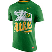 Nike Men's Oakland Athletics Cooperstown Green Tri-Blend T-Shirt