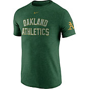 Nike Men's Oakland Athletics DNA Tri-Blend Heathered Green T-Shirt