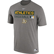 Nike Men's Oakland Athletics Dri-FIT Authentic Collection Grey Legend T-Shirt