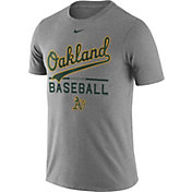 Nike Men's Oakland Athletics Practice Grey T-Shirt