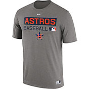 Nike Men's Houston Astros Dri-FIT Authentic Collection Grey Legend T-Shirt