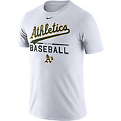Nike Men's Oakland Athletics Practice White T-Shirt