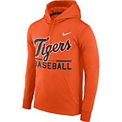 Nike Men's Detroit Tigers Dri-FIT Orange Therma Pullover Hoodie