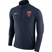 Nike Men's Minnesota Twins Dri-FIT Navy Element Half-Zip Jacket