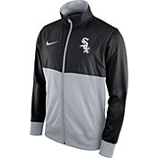 Nike Men's Chicago White Sox Black/Grey Full-Zip Track Jacket