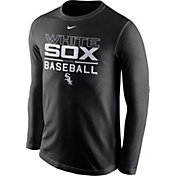 Nike Men's Chicago White Sox Practice Black Long Sleeve Shirt