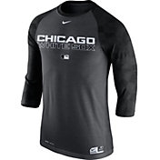 Nike Men's Chicago White Sox Dri-FIT Authentic Collection Grey Legend Three-Quarter Shirt