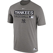 Nike Men's New York Yankees Dri-FIT Authentic Collection Grey Legend T-Shirt