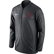 Nike Men's Alabama Crimson Tide Anthracite Lockdown Half-Zip Performance Jacket